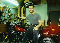 """COPY BY TOM BEDFORD<br /> Pictured: The Harley Davidson motorcycle once belonged to actor Patrick Swayze that was sold at auction<br /> Re: The iconic black leather jacket worn by Patrick Swayze in the hit film Dirty Dancing has sold for $50,000 (£38,612) at auction.<br /> It was bought by a fan after the tragic actor's wife decided to sell his movie memorabilia. <br /> The jacket had a reserve of just $6,000(£4,630) at the auction in Los Angeles but an internet bid of $25,000(£19,300) was received before the auction started.<br /> The salesroom erupted with applause when the hammer came down at $50,000.<br /> Auctioneer Darren Julien said: """"We always knew it would fetch big bucks.<br /> """"The jacket is the holy grail for Patrick Swayze fans and there are a lot out there.""""  <br /> The heart throb actor wore the James Dean-style jacket throughout Dirty Dancing including the  scene where he says: """"Nobody puts Baby in a corner"""".<br /> The jacket belonged to Swayze before the movie was made in 1987.<br /> Dirty Dancing was a low-budget movie and most of the clothes Swayze's wore were his own, including the leather jacket.<br /> Mr Julien said: """"Because it was his jacket he got to keep it after the movie and wore it whenever he felt like it."""