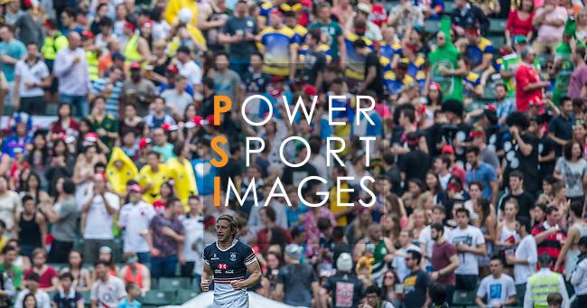 Hong Kong vs American Samoa during the Cathay Pacific / HSBC Hong Kong Sevens at the Hong Kong Stadium on 28 March 2014 in Hong Kong, China. Photo by Xaume Olleros / Power Sport Images