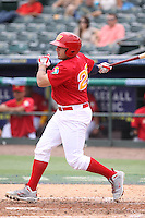 Adrian Nieto of Team Spain at bat during a game against Team Israel during the World Baseball Classic preliminary round at Roger Dean Stadium on September 21, 2012 in Jupiter, Florida. Team Israel defeated Team Spain 4-2. (Stacy Jo Grant/Four Seam Images)