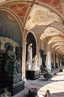 Tschechien, Prag, Friedhof auf dem Vysehrad, Unesco-Weltkulturerbe.