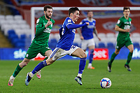 Harry Wilson of Cardiff City (C) in action during the Sky Bet Championship match between Cardiff City and Preston North End at the Cardiff City Stadium, Cardiff, Wales, UK. Saturday 20 February 2021