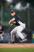 Andrew Ward #6 of Oviedo High School in Oviedo, Florida playing for the Colorado Rockies scout team during the East Coast Pro Showcase at Alliance Bank Stadium on August 3, 2012 in Syracuse, New York.  (Mike Janes/Four Seam Images)