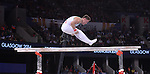 Wales' Iwan Mepham performs his routine on the parallel bars in the gymnastics artistic men's all-round final<br /> <br /> Photographer Chris Vaughan/Sportingwales<br /> <br /> 20th Commonwealth Games - Day 7 - Wednesday 30th July 2014 - Gymnastics - The SSE Hydro - Glasgow - UK