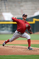 Arizona Diamondbacks pitcher Ethan Elias (18) during an instructional league game against the San Francisco Giants on October 16, 2015 at the Chase Field in Phoenix, Arizona.  (Mike Janes/Four Seam Images)