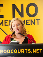 NO REPRO FEE. 252/10/2011. VOTE NO TO THE 30TH AMENDMENT. Pictured at a public meeting about sound reasons to Vote No to the 30th Amendment to the Constitution (Oireachtas Inquiries) hosted by the Irish council for Civil Liberties at the National Library Kildare St. Dublin is Dearbhaill McDonald Legal Editor, Irish Independent. Picture James Horan/Collins Photos.