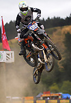 Marcus Haworth competes in 12-14 years 125cc race two. 2021 New Zealand Motocross Grand Prix at Old Gorge Road in Woodville , New Zealand on Saturday, 30  January 2021. Photo: Dave Lintott / lintottphoto.co.nz