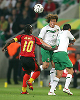 Gerardo Torrado (6) heads the ball. Mexico and Angola played to a 0-0 tie in their FIFA World Cup Group D match at FIFA World Cup Stadium, Hanover, Germany, June 16, 2006.