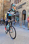 Carlos Verona Quintanilla (ESP) Etixx-Quick Step makes his way to sign on before the start of the 2015 Strade Bianche Eroica Pro cycle race 200km over the white gravel roads from San Gimignano to Siena, Tuscany, Italy. 7th March 2015<br /> Photo: Eoin Clarke www.newsfile.ie
