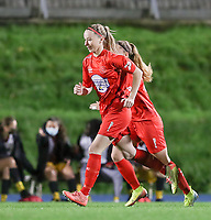 Woluwe's Magali Dinon (6) pictured during a female soccer game between FC Femina WS Woluwe and Standard Femina de Liege on the fourth match day of the 2020 - 2021 season of Belgian Womens Super League , Friday 8th of October 2020  in Liege , Belgium . PHOTO SPORTPIX.BE | SPP | SEVIL OKTEM