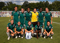 St. Louis Athletica starters before a WPS match at Anheuser-Busch Soccer Park, in St. Louis, MO, July 26, 2009.  The match ended in a 1-1 tie.