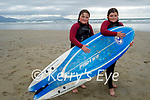 After enjoying the surf on Banna beach on Sunday, l to r: Laoisa and Hollie Faherty