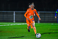 Chloe Vande Velde (10) of AA Gent pictured during a female soccer game between  Racing Genk Ladies and AA Gent Ladies on the eleventh matchday of the 2020 - 2021 season of Belgian Scooore Womens Super League , friday 22 th of January 2021  in Genk , Belgium . PHOTO SPORTPIX.BE   SPP   DAVID CATRY