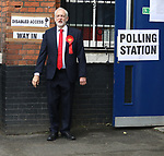 Pic shows: Jeremy Corbyn votes in 2017 general election in school near his home in Islington<br /> <br /> <br /> <br /> <br /> Pic by Gavin Rodgers/Pixel 8000 Ltd