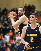 CORVALLIS, OR - January 21, 2017: Cal Bears Men's Basketball team vs. the Oregon State Beavers at Gill Coliseum. Final score, Cal Bears 69, Oregon Beavers 58.