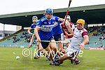 Brendan O'Connor, St. Brendans, in action against John Mike Dooley, Causeway, during the County Senior hurling Semi-Final between St. Brendans and Causeway at Austin Stack park on Sunday.