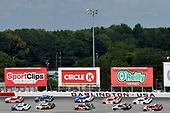 NASCAR XFINITY Series<br /> Sport Clips Haircuts VFW 200<br /> Darlington Raceway, Darlington, SC USA<br /> Saturday 2 September 2017<br /> Denny Hamlin, SportsClips Toyota Camry and Elliott Sadler, Armour Vienna Sausage 150th Anniversary Chevrolet Camaro<br /> World Copyright: Nigel Kinrade<br /> LAT Images