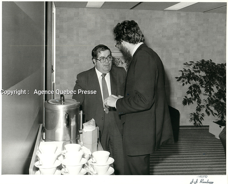Raymond Blais<br /> , president et chef de la direction du Mouvement Desjardins de 1981 à 19861, le 30 novembre 1981<br /> <br /> PHOTO : Agence Quebec Presse