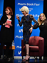"""MIAMI, FL - FEBRUARY 06: Radio host/author Diane Rehm in conversation with Dr. Cristina Pozo-Kaderman (L) and Lisa Palley about Diane Rehm's new book """"When My Time Comes"""" Presented in collaboration with Miami Book Fair and Books and Books at Miami Dade College-Wolfson Auditorium on February 6, 2020 in Miami, Florida.   ( Photo by Johnny Louis / jlnphotography.com )"""