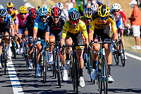 4th September 2020; Millau to Lavaur, France. Tour de France cycling tour, stage 7;  Wout Van Aert BEL - Team Jumbo - Visma - Adam Yates GBR - Mitchelton - Scott - Michal Kwiatkowski POL - IneGrenadiers CYCLISME