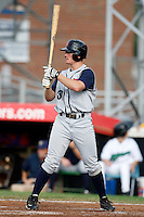 July 30, 2009:  Pat Irvine of the State College Spikes during a game at Russell Diethrick Park in Jamestown, NY.  State College is the NY-Penn League Short-Season Class-A affiliate of the Pittsburgh Pirates.  Photo By Mike Janes/Four Seam Images