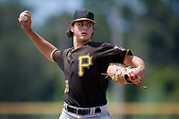 Pittsburgh Pirates starting pitcher Max Kranick (26) delivers a pitch during a Florida Instructional League game against the Toronto Blue Jays on September 20, 2018 at the Englebert Complex in Dunedin, Florida.  (Mike Janes/Four Seam Images)