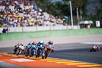 VALENCIA, SPAIN - NOVEMBER 8: Miguel Oliveira, Romano Fenati, Jorge Navarro, Efren Vazquez during Valencia MotoGP 2015 at Ricardo Tormo Circuit on November 8, 2015 in Valencia, Spain