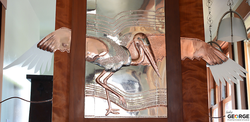 Edgar Haris' portfolio of fabricated metal pieces depicting the African Baobab tree, and various animals.