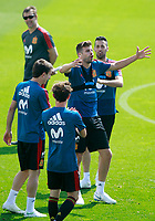 Spain's coach Julen Lopetegui, Mikel Oyarzabal, Alvaro Odriozola, Gerard Pique and Sergio Busquets during training session. May 31,2018.(ALTERPHOTOS/Acero) /NortePhoto.com