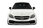 Car photography straight front view of a 2018 Mercedes Benz C-Class Coupe AMG C63 S 2 Door Coupe