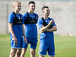 St Johnstone Training….13.09.19     McDiarmid Park, Perth<br />Jason Holt pictured having fun in training this morning alongside Ali McCann and Scott Tanser<br />Picture by Graeme Hart.<br />Copyright Perthshire Picture Agency<br />Tel: 01738 623350  Mobile: 07990 594431