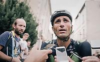 Daniele Bennati  (ITA/Movistar) interviewed after the stage<br /> <br /> 104th Tour de France 2017<br /> Stage 19 - Embrun › Salon-de-Provence (220km)