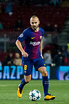 Andres Iniesta Lujan of FC Barcelona in action during the UEFA Champions League 2017-18 match between FC Barcelona and Olympiacos FC at Camp Nou on 18 October 2017 in Barcelona, Spain. Photo by Vicens Gimenez / Power Sport Images