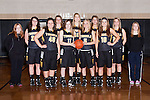 November 20, 2013- Tuscola, IL- The 2013-2014 Warrior Girls Varsity Basketball team. Back row rom left are manager Ashley Canull, Macie Edwards, Halle McCrory, Taylor Bosch, Madeline Meinhold, Anna Kauffman, and manager Bailey Durbin. Front row from left are Grace Hardwick, Anna Watson, Morgan Little, and Maria Meyer. [Photo: Douglas Cottle]