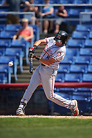 Richmond Flying Squirrels third baseman Ryder Jones (8) at bat during a game against the Binghamton Mets on June 26, 2016 at NYSEG Stadium in Binghamton, New York.  Binghamton defeated Richmond 7-2.  (Mike Janes/Four Seam Images)
