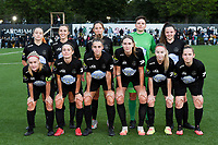 Woluwe's players with Hazel Engelen , Stefanie Deville , Anouck Cochez , Magali Dinon , Jana Simons , Kenza Vrithof , Marie Bougard , Selina Gijsbrechts , Stephanie Suenens , Sheila Broos and Estelle Peron pictured posing for the teampicture during a female soccer game between Sporting Charleroi and FC Femina White Star Woluwe on the second matchday of the 2020 - 2021 season of Belgian Scooore Women s SuperLeague , friday 4 th of September 2020  in Marcinelle , Belgium . PHOTO SPORTPIX.BE | SPP | DAVID CATRY