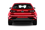 Straight rear view of 2019 Mazda Mazda-3 - 5 Door Hatchback Rear View  stock images