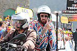 Sir Bradley Wiggins (GBR) commentating for Eurosport from a moto during Stage 14 of the 2019 Tour de France running 117.5km from Tarbes to Tourmalet Bareges, France. 20th July 2019.<br /> Picture: Colin Flockton | Cyclefile<br /> All photos usage must carry mandatory copyright credit (© Cyclefile | Colin Flockton)