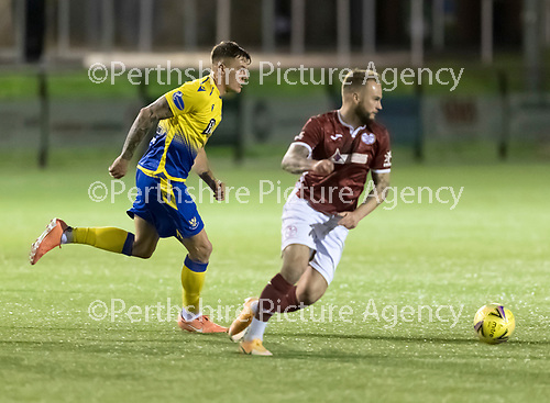 Kelty Hearts v St Johnstone…07.10.20   New Central Park  Betfred Cup<br />Callum Hendry goes by Kallum Higginbotham<br />Picture by Graeme Hart.<br />Copyright Perthshire Picture Agency<br />Tel: 01738 623350  Mobile: 07990 594431