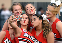 Fort Smith Northside cheerleaders take a moment for a photo prior to Northside, Greenwood game on Friday, Sept. 10, 2021 in Fort Smith. (Special to NWA Democrat Gazette/Brian Sanderford)