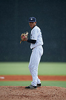 GCL Yankees East pitcher Adonny Rojas (34) during a Gulf Coast League game against the GCL Phillies West on July 26, 2019 at the New York Yankees Minor League Complex in Tampa, Florida.  (Mike Janes/Four Seam Images)
