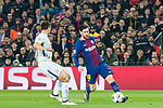 Lionel Andres Messi (R) of FC Barcelona competes for the ball with Cesar Azpillicueta of Chelsea FC during the UEFA Champions League 2017-18 Round of 16 (2nd leg) match between FC Barcelona and Chelsea FC at Camp Nou on 14 March 2018 in Barcelona, Spain. Photo by Vicens Gimenez / Power Sport Images