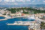 France, Provence-Alpes-Côte d'Azur, Nice: at foreground Port Lympia | Frankreich, Provence-Alpes-Côte d'Azur, Nizza: im Vordergrund der Hafen Port Lympia