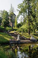 Schlosspark in Cesis, Lettland, Europa