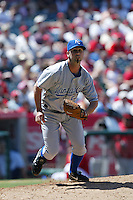 David Riske of the Kansas City Royals during a game against the Los Angeles Angels in a 2007 MLB season game at Angel Stadium in Anaheim, California. (Larry Goren/Four Seam Images)