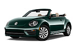Stock pictures of low aggressive front three quarter view of 2018 Volkswagen Beetle 1.8T-Dune-Conv.-auto 2 Door Convertible Low Aggressive