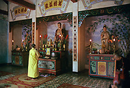 On the Highway number 1 between Danang and Hué, February 1988. Budhist Temple found along the road.
