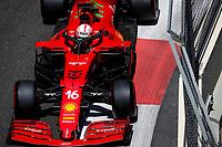 4th June 2021; Baku, Azerbaijan;  Free practise sessions;  16 LECLERC Charles (mco), Scuderia Ferrari SF21 during the Formula 1 Azerbaijan Grand Prix 2021 at the Baku City Circuit, in Baku, Azerbaijan -