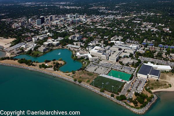 aerial photograph Northwestern University, Evanston, Illinois