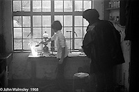 Doing an exciting science experiment, Science laboratory, Summerhill school, Leiston, Suffolk, UK. 1968.