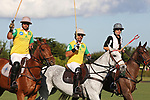 WELLINGTON, FL - NOVEMBER 25:  Scenes from USPA International Cup, Caio Mello, Guilherme Lins Brazil, greet the crowd as Team USA  defeats Team Brazil 9 - 7 in the final of the USPA International Cup at the Grand Champions Polo Club, on November 25, 2017 in Wellington, Florida. (Photo by Liz Lamont/Eclipse Sportswire/Getty Images)